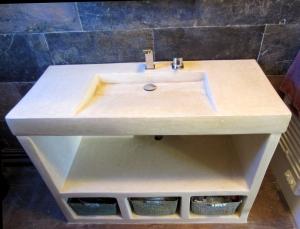meuble vasque tadelakt:1