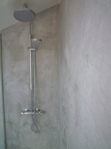 Douche arcangues karea creation - Beton douche wax ...